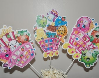 Shopkins Large Centerpiece and Cake Topper set of 6