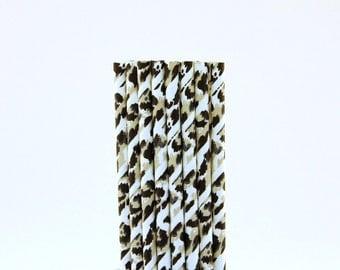 Black and White Camouflage Paper Straws-Black and White Straws-Hunting Party Straws-Camping Paper Straws-Cake Pop Sticks-Drinking Straws