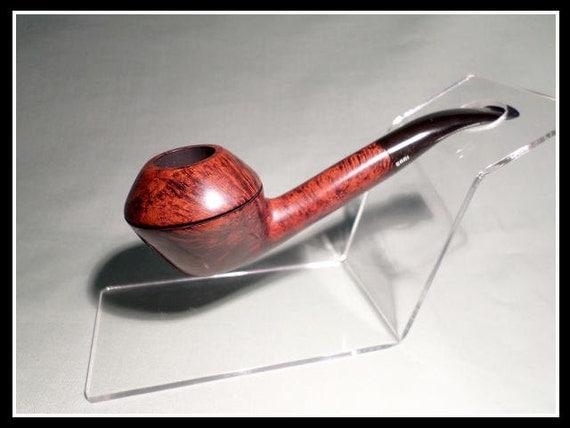 """Briar Pipe – Bari New and Un-Smoked """"Squash"""" Long-Stemmed Bulldog"""