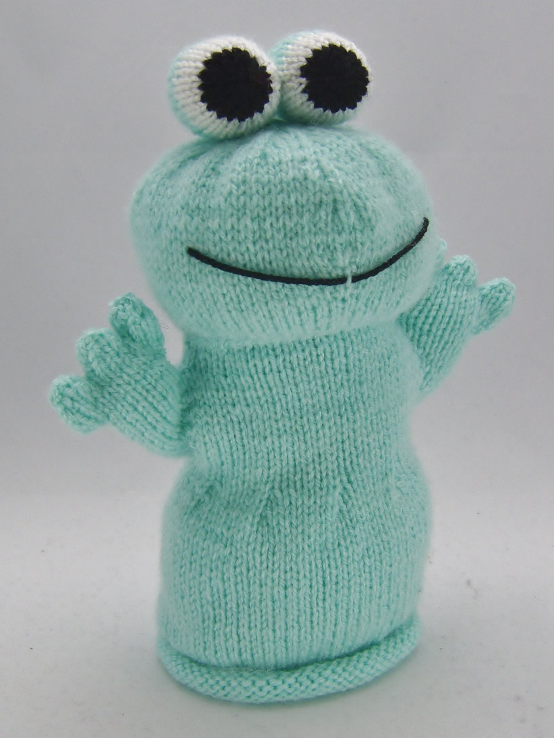 Puppet Gloves Knitting Pattern : KNITTING PATTERN Frog Hand Puppet Knitting Pattern Download