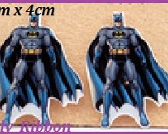 6 X BATMAN RESINS, Planar, Hero, Craft, Cake decorating, Card making .. World Wide Post