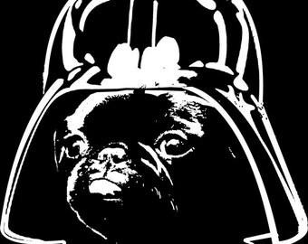 Pug Vader Tee Shirt!  SMLXL2XL YOUTH,MENS,WOMENS