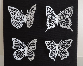 Framed Butterfly Shadowbox Papercutting