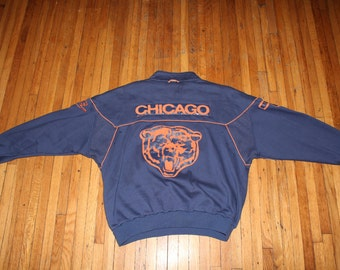 1980s Chicago Bears Nike Sweater Amazing leather patches, EXTREMELY RARE, amazing condition, and all original