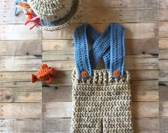 Newborn Fisherman Outift