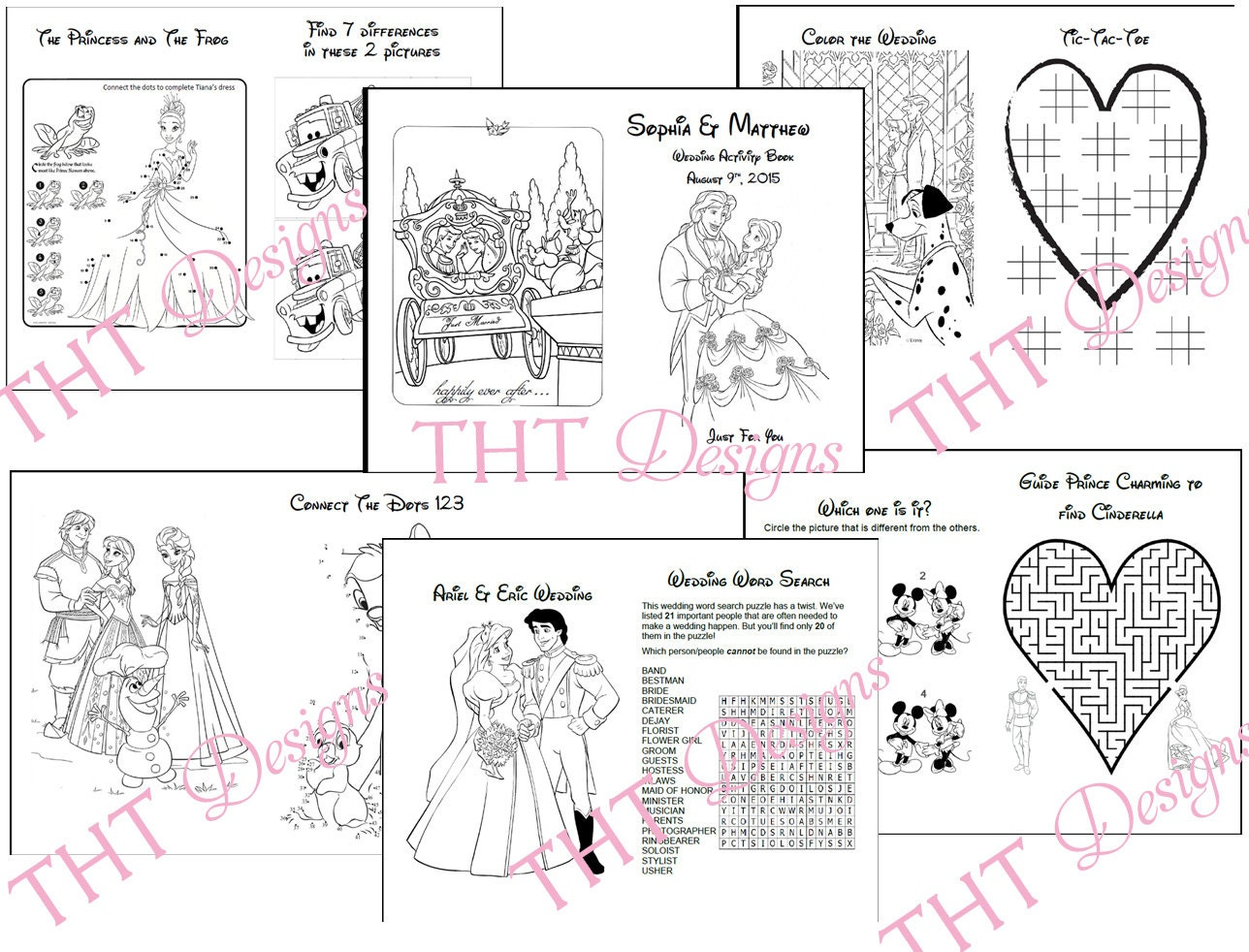 Printable coloring pages wedding themed -  Zoom