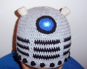 dr who dalek inspired beanie hat