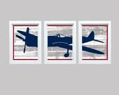 Dream Big Little Man, Aviation Art, Airplane Art, Aviation Print, Boys Nursery Decor, Airplane Nursery Decor, Navy Red Decor,