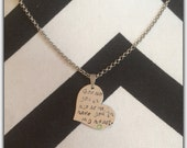 Miscarriage Heart Shape Necklace (bithstone optional)