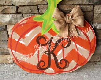 Pumpkin door hanger, fall wreath, fall door hanger , Halloween door hanger