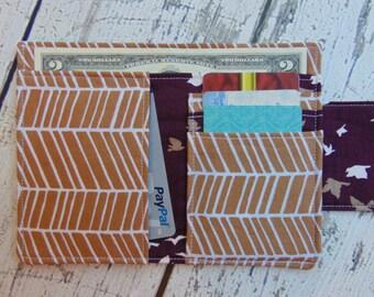 Women's Fabric Billfold, Wallet, Credit Card Holder, Womens Wallet, Womens Billfold