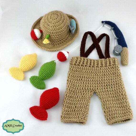 CROCHET PATTERN Crochet Newborn Fisherman Hat and ...