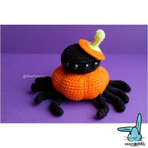 Amigurumi Spider Pattern : Pumpkin Spider amigurumi crochet pattern. PDF by BlueRabbitLV