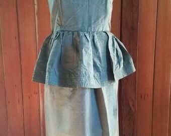 Vintage nineties green silk Ewaldo Bock dress size 12