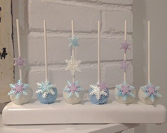12 Snowflake Cake Pops