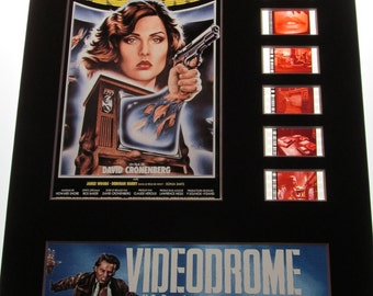 VIDEODROME 1983 James Woods Deborah Harry David Cronenberg Horror Frame Ready Matted Movie 35mm Film Cell Display 8x10