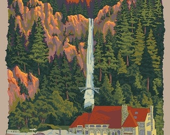 Multnomah Falls (Art Prints available in multiple sizes)