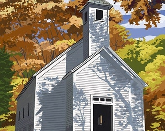 Cades Cove Baptist Church - Great Smoky Mountains National Park, TN (Art Prints available in multiple sizes)
