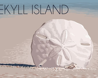 Jekyll Island, Georgia - Sand Dollar (Art Prints available in multiple sizes)