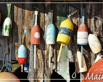 Maine - Bouys (Art Prints available in multiple sizes)