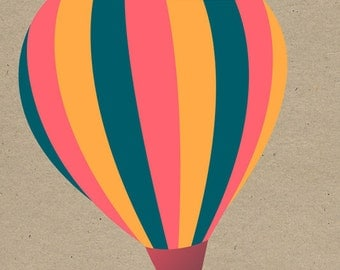 Hot Air Balloon (Art Prints available in multiple sizes)