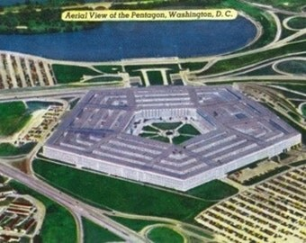 Washington DC - Aerial View of the Pentagon Building (Art Prints available in multiple sizes)