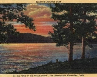Sunset at Big Bear Lake (Art Prints available in multiple sizes)