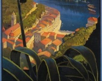 La Riviera Italienne: From Rapallo to Portofino Travel Poster (Art Prints available in multiple sizes)