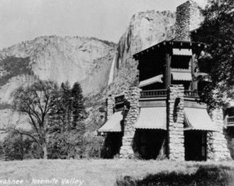 Yosemite, CA - The Ahwahnee Lodge and Valley Photo (Art Prints available in multiple sizes)