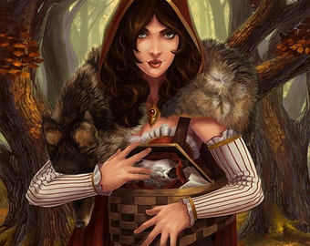 Red Riding Hood (Art Prints available in multiple sizes)