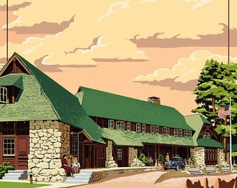The Lodge at Bryce Canyon, Utah (Art Prints available in multiple sizes)