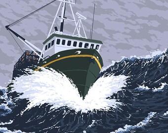 Fishing Boat - Oregon Coast (Art Prints available in multiple sizes)