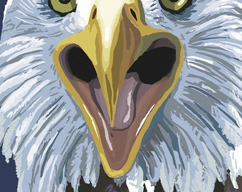 Maine - Eagle Up Close (Art Prints available in multiple sizes)