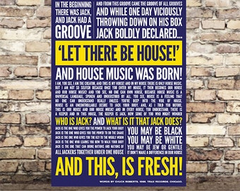 House Music Print - In the beginning there was Jack - Typography