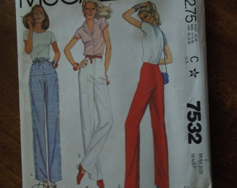 McCalls 7532, Size 16, UNCUT sewing pattern, misses, womens, pants, craft supplies