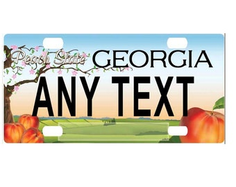 Custom, personalized state license plate - Georgia 2013 - Add Any Text - free shipping