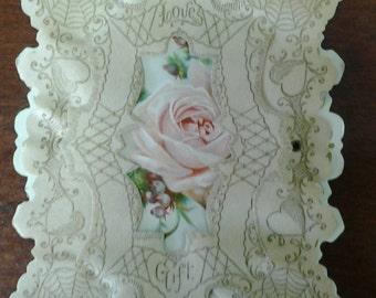 Antique Sweet Heart Card