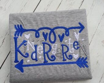 Kindergarten embroidered shirt
