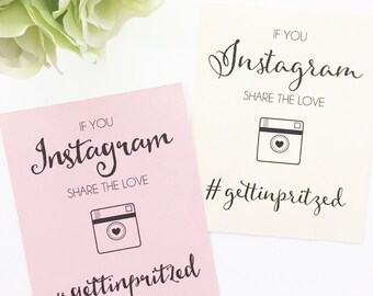 Wedding Hashtag Sign   Instagram Share the Love