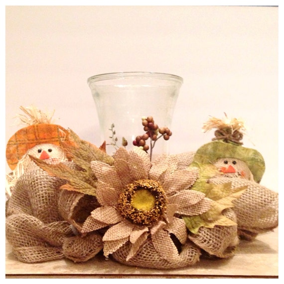 Fall centerpiece handmade thanksgiving decor