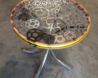 Bicycle rim and sprocket table