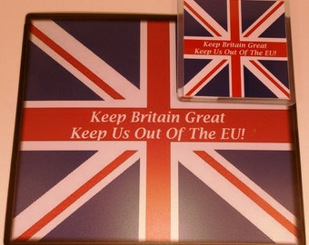 Union Jack Gift Set Keep Britain Great, Keep Us Out Of The EU!