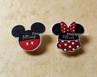 Mouse Head Characters Inspired Mouse Ears Nickel Free Post Earrings