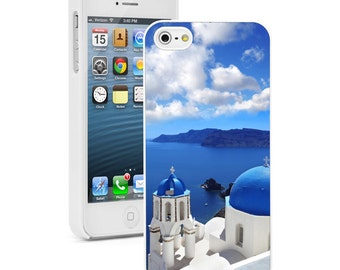 For Apple iPhone SE 4 4s 5 5s 5c 6 6s 7 Plus Hard Case Cover 808 Oia Village Santorini Island Greece