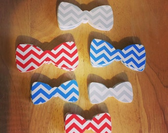 Chevron Bow Tie Cut Outs (Various Sizes and Colors Available)