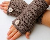 crochet pattern -  fingerless gloves crochet pattern pdf file wrist warmers fingerless mitts pattern Roxette Wristers