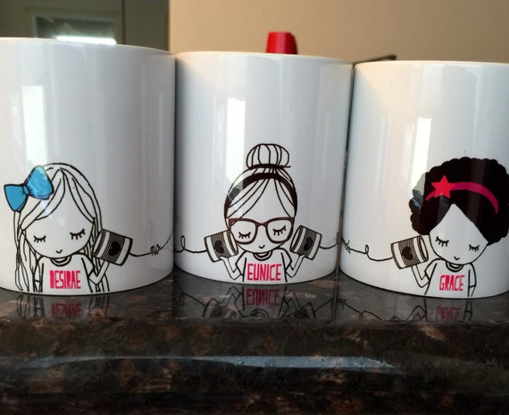 Best Friend Long Distance Coffee Mug Set Three Mugs