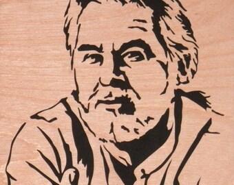 Scroll Saw Art Kenny Rogers  -Free Shipping-
