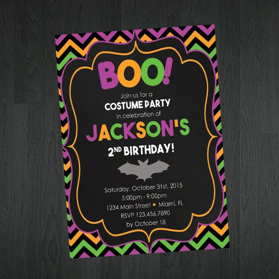 Kids Halloween Birthday Invitation Cute By MemorableImprints