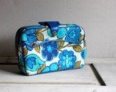 mod retro suitcase flowers overnight weekender bag luggage